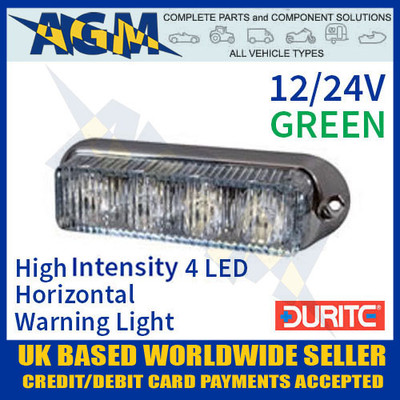 0-442-14, 044214, green, high, intensity, led, horizontal, warning, light, 12v, 24v