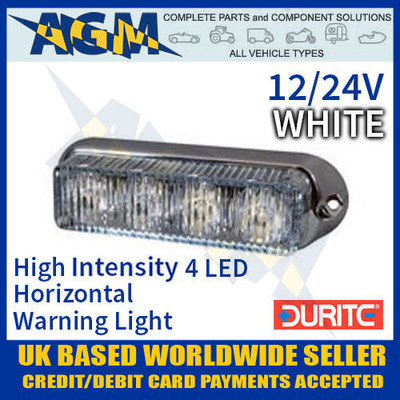 0-442-17, 044217, durite,  white, high, intensity, led, horizontal, warning, light, 12v, 24v