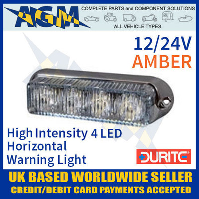 0-442-20, 044220, durite, amber, high, intensity, led, horizontal, warning, light, 12v, 24v