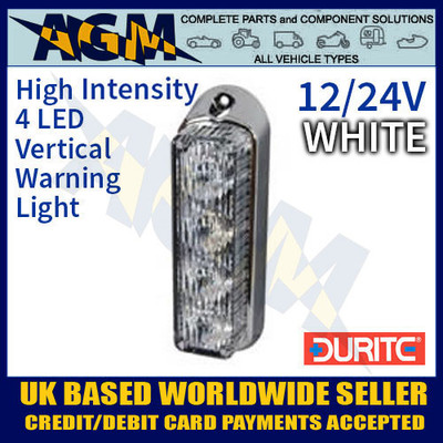 0-442-37, 044237, durite, white, high, intensity, led, vertical, warning, light, 12v, 24v