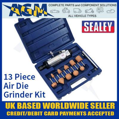 SA67 Sealey 13 Piece Air Die Grinder Kit - Air Tools
