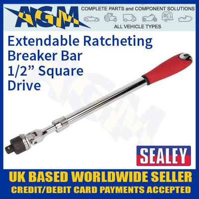 "sealey, ak7316, extendable, ratchet, breaker, bar, 1/2"", square, drive"