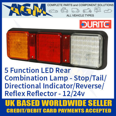 durite, 0-300-20, 030020, function, 12v, 24v, led, rear, combination, lamp