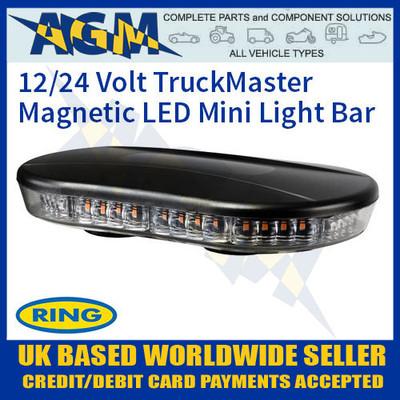 ring, rcv9822, truckmaster, magnetic, roof, mount, mini, light, flashing, beacon