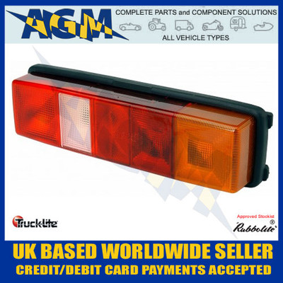 Rubbolite, Trucklite, Rear Lamp, Stop, Tail, Fog, Reverse, Indicator, Reflector, Commercial Vehicle, Right, 262PS/02/00, Number plate light