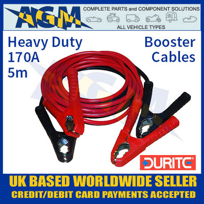 Durite 0-205-10 Set of Two Slave Leads 170A 5m HD Booster Cables