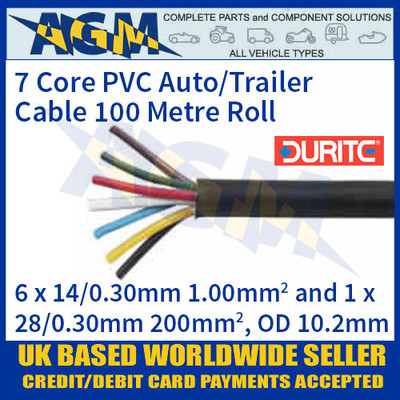 Durite 3-997-00 7 Core PVC Auto/Trailer Cable