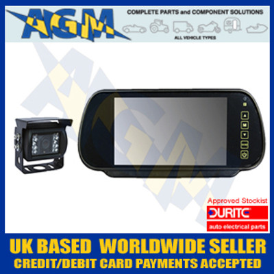 "Durite 0-776-47 CCTV TV  7"" Mirror Kit 12v or 24v Reversing Camera"