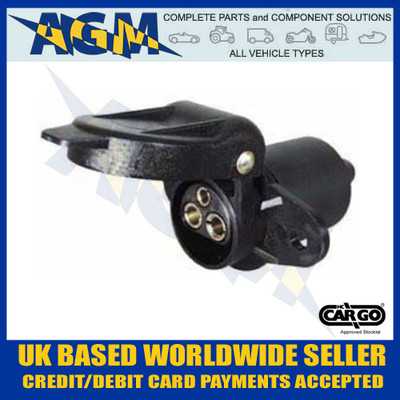 Cargo, 180307, Non Reversable, 3 Pin, Trailer, Socket