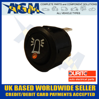 durite, 053118, 0-531-18, amber. led, on, off, beacon, symbol, rocker, switch