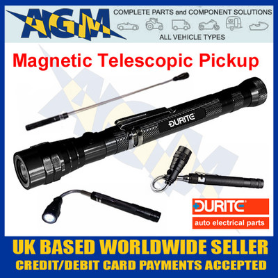 durite, 0-222-20, 022220, led, telescopic, magnetic, pick, up, torch