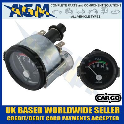 cargo, 160695, marine, style, 12v, volt, meter, gauge