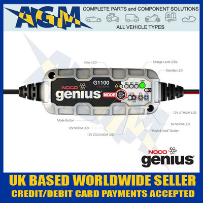noco, genius, g1100uk, 1.1, amp, smart, battery, charger