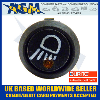 durite, 0-531-11, amber, led, on, off, work, lamp, symbol, rocker, switch