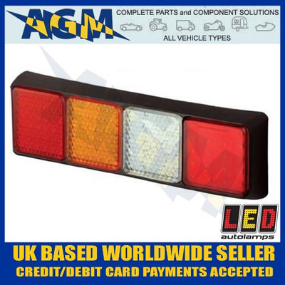 Led AutoLamps 80BFWARME Trailer/Commercial Vehicle LH Combination Rear Lamp Light 12/24V