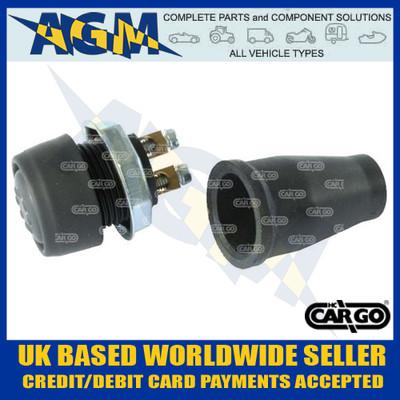 Cargo 180215 Push Button Twin Terminal Switch - 12/24v
