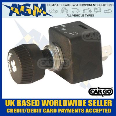 Cargo 180314 Fan Blower Switch - 12/24V