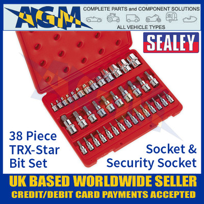 Sealey AK6197 TRX-Star Socket & Security Socket Bit Set