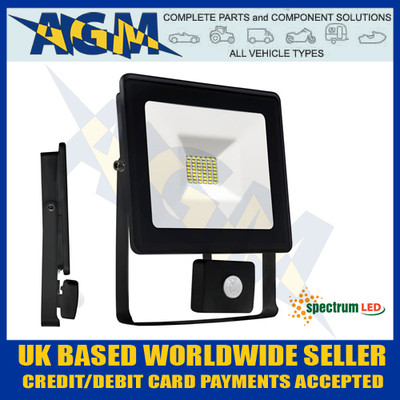 Spectrum Lux SLI029024CWPIR Noctis 10W Led Flood Light With PIR