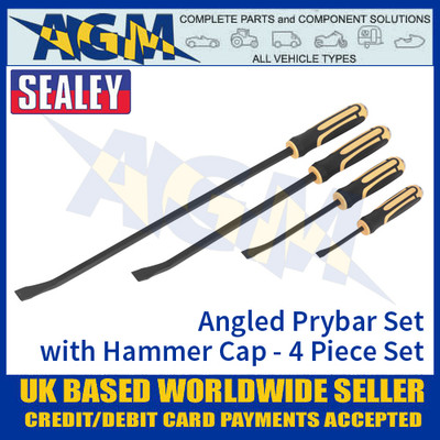 Sealey S01138 Angled Prybar Set with Hammer Cap