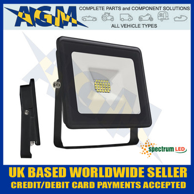 Spectrum Lux SLI029025CW Noctis 20W Led Flood Light