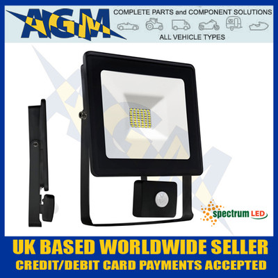 Spectrum Lux SLI029025CWPIR Noctis 20W Led Flood Light With PIR