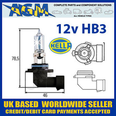 HELLA 12v P20D 60w Halogen Headlamp Bulb (Single Bulb)