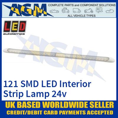 LED Autolamps 10124-24 Interior 121 SMD LED Strip Lamp, 24v