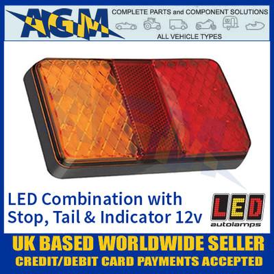 LED Autolamps 150BARE LED Rear Combination Lamp Stop/Tail/Reverse 12v