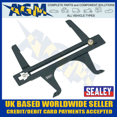 Sealey VS040 Brake Drum Measuring Calipers / Wear Gauge Metric / Imperial