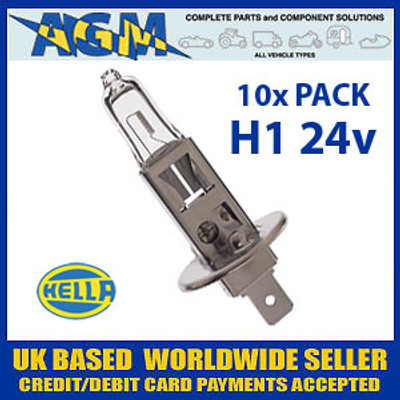 HELLA HB466 24v H1 Halogen Headlamp Bulb (Pack of 10)
