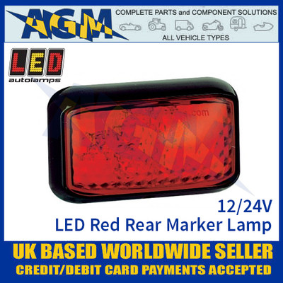 LED Autolamps 58RME LED Red Rear Marker Lamp Light 12/24v