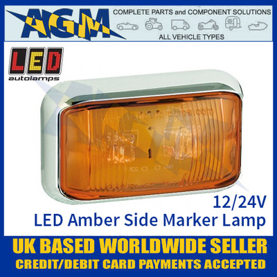 LED Autolamps 58CAME LED Amber Side Marker Lamp Light 12/24v