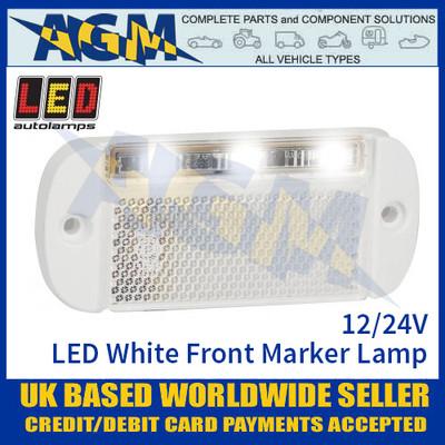 LED Autolamps 44WWME LED White Front Marker Lamp Light 12/24v