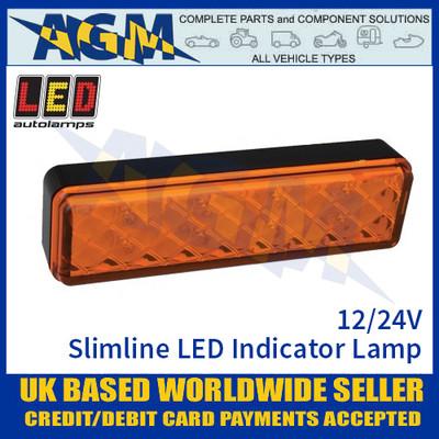 LED Autolamps 135AME LED Slimline LED Indicator Lamp Light 12/24v