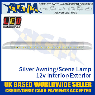 LED Autolamps 23260 Silver Awning/Scene Lamp 12 volt