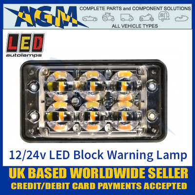 LED Autolamps SSLED62DVA Super-Slim 6 Block LED Warning Lamp
