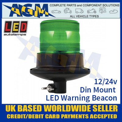 LED Autolamps EQPR10GBM-DM Green LED Warning Beacon 12v/24v Din Mount
