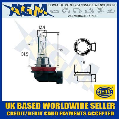 HELLA 12v H9 PGJ19-5 65w Halogen Headlamp Bulb (Single Bulb)