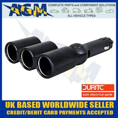 Durite 0-601-93 Triple Power Socket Adaptor 12/24v