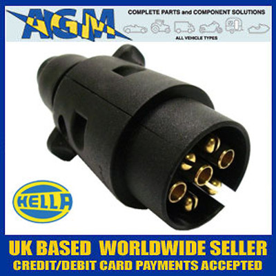 Genuine Hella 12N Black Plastic Towing Plug