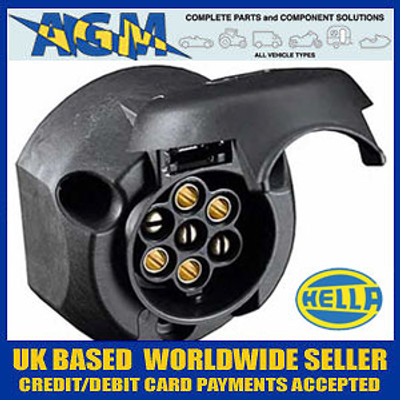 Genuine Hella 8JB001943-003 12N Black Plastic Towing Socket