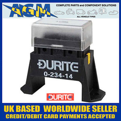 Durite 0-234-14 Bottom Access Fuse Box for Standard Blade Fuses - 4 Way
