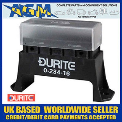 Durite 0-234-16 Bottom Access Fuse Box for Standard Blade Fuses - 6 Way