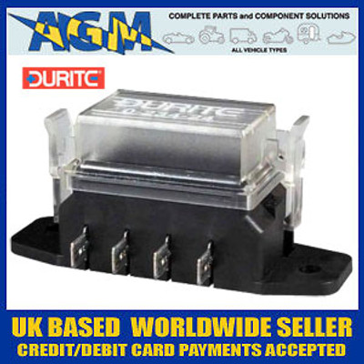 Durite 0-234-24 Fuse Box For Standard Fuses - 4 Way