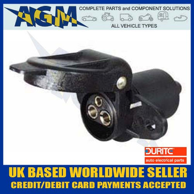 durite, 0-365-19, non, reversable, trailer, socket