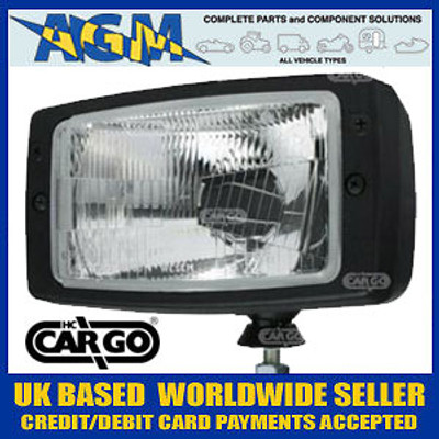 Cargo 170865 Rectangular Halogen Headlamp Unit without Sidelamp Function