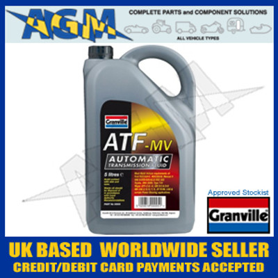 Granville 0005 Fully Synthetic ATF-MV Automatic Transmission Fluid 5 Ltr