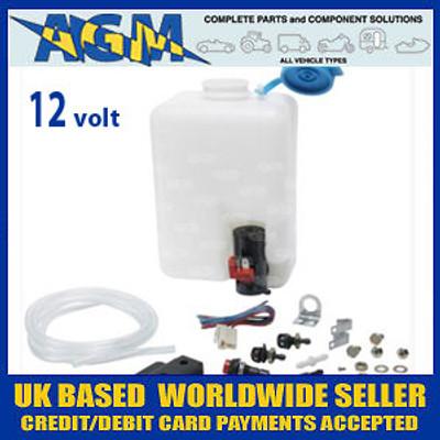 Windscreen Washer Bottle Kit 12 Volt Ideal for VW Beetle, Classic Cars etc..