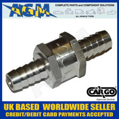 Cargo 080786 Universal One Way/Non Return Valve 10MM - Fuel: Diesel, Petrol, Bio